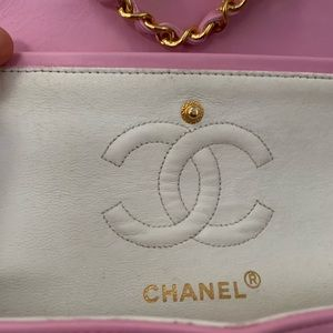 """CHANEL Bags - VTG CHANEL CLASSIC FLAP 9"""" PINK GHW"""